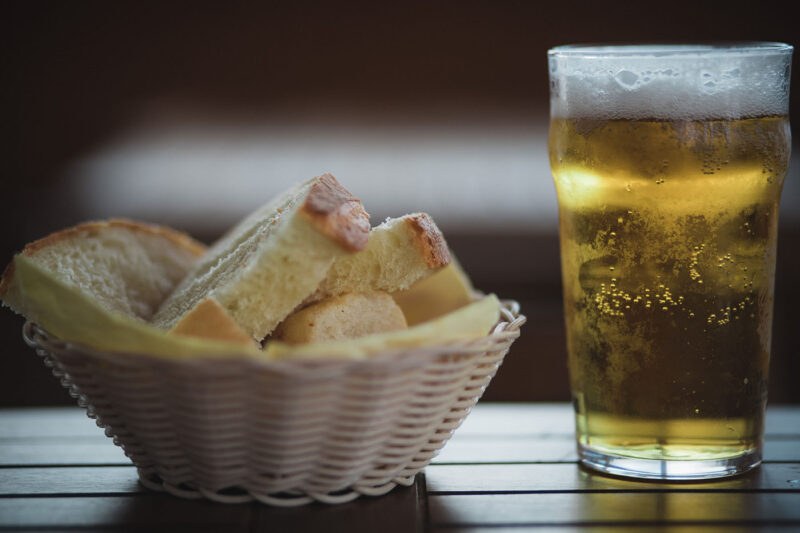 Beer with bread