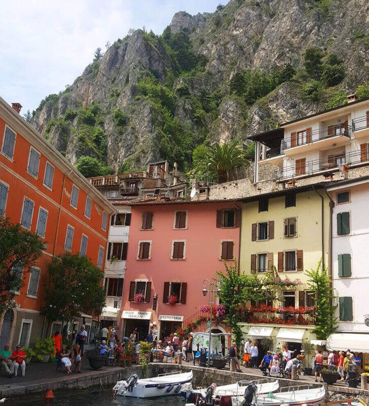 Limone port: Lago di Garda Italy