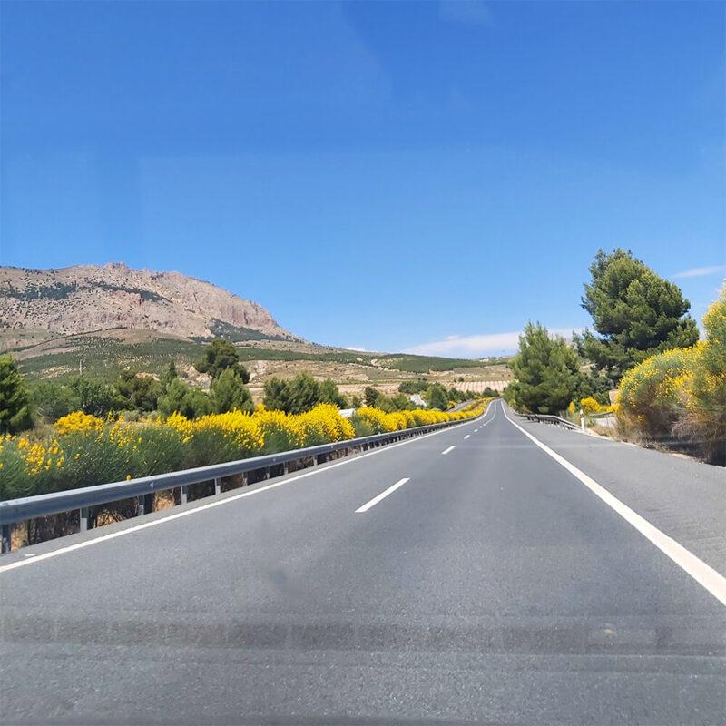 Almeria in Andalusia from car