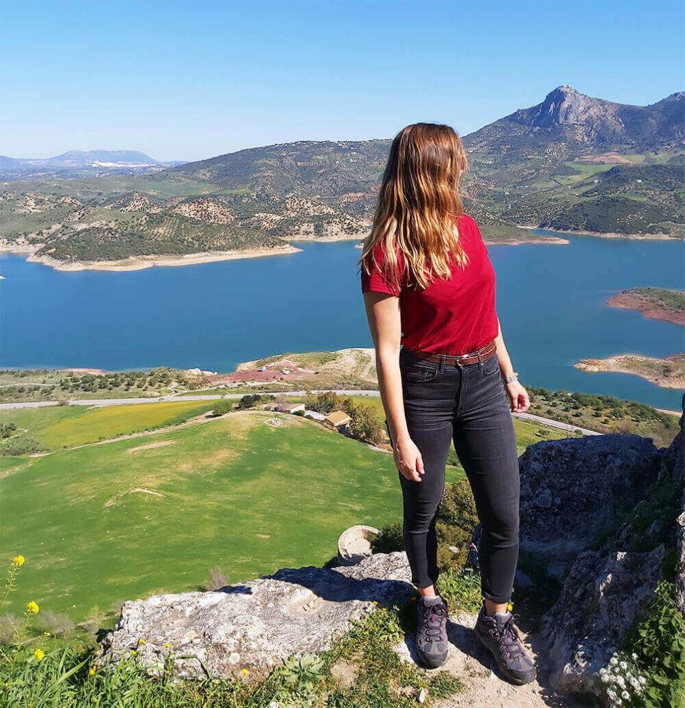Zahara de la Sierra in Natural Park of Sierra de Grazalema