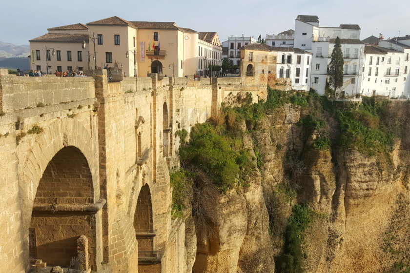 Ronda- View to puente bridge