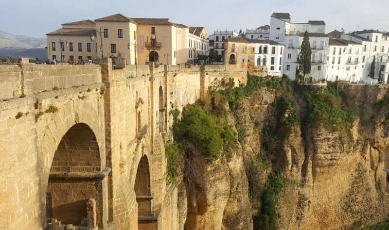 Ronda- View to puente bridge
