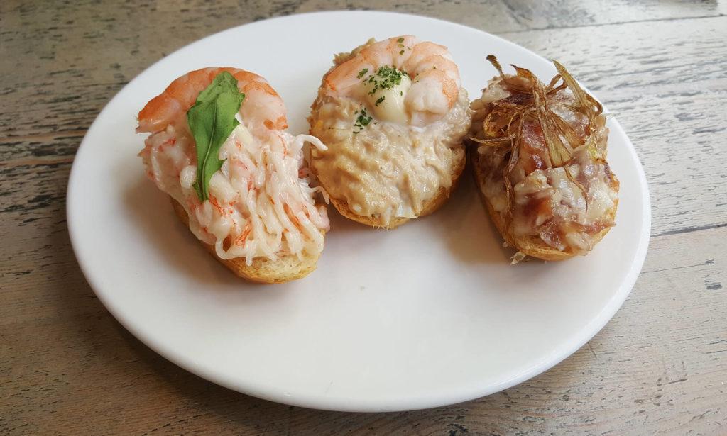 Spanish snack food - pintxos