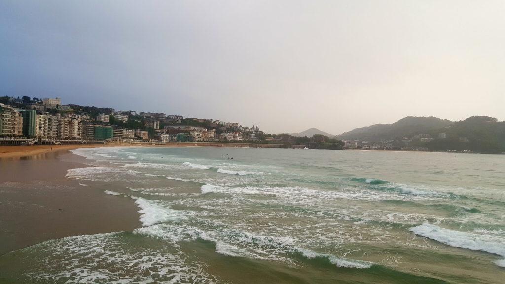 San Sebastian in rain