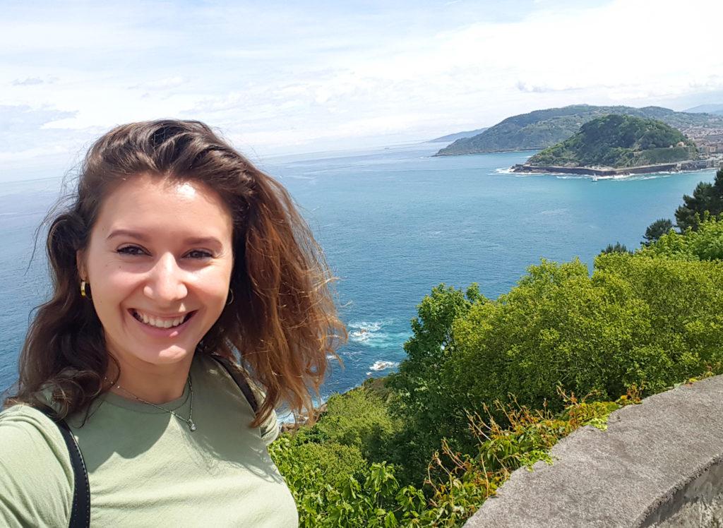 San Sebastian solo travel photos - view and selfie