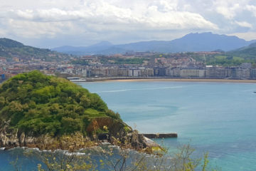 San Sebastian photo - view from solo climb to monte Igueldo