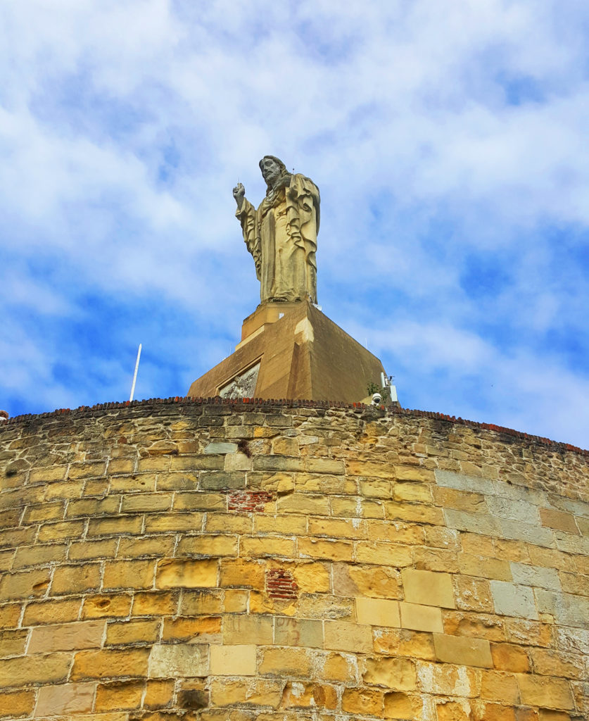 The famous statue of Jesus Christ, Urgull