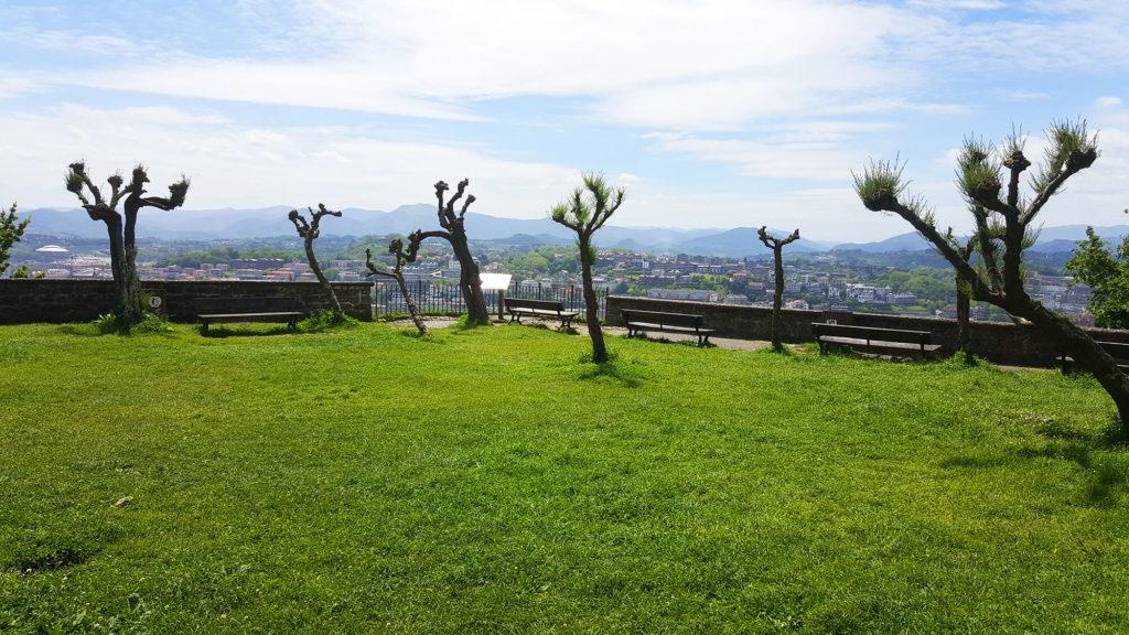 Park area on Monte Urgull, San Sebastian