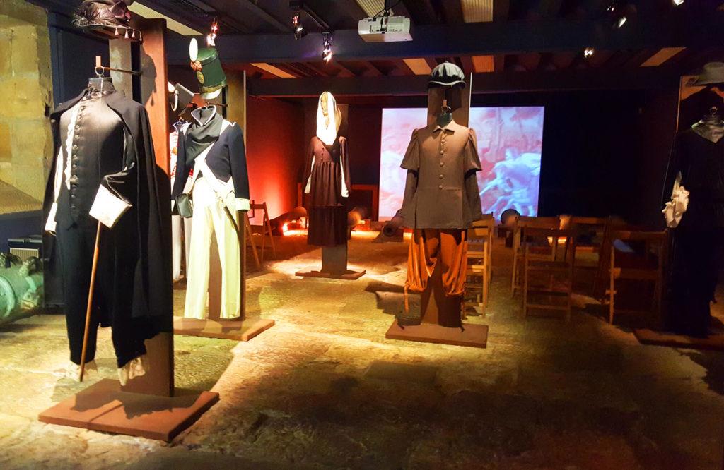 Historical exposition in San Sebastian, Urgull hill