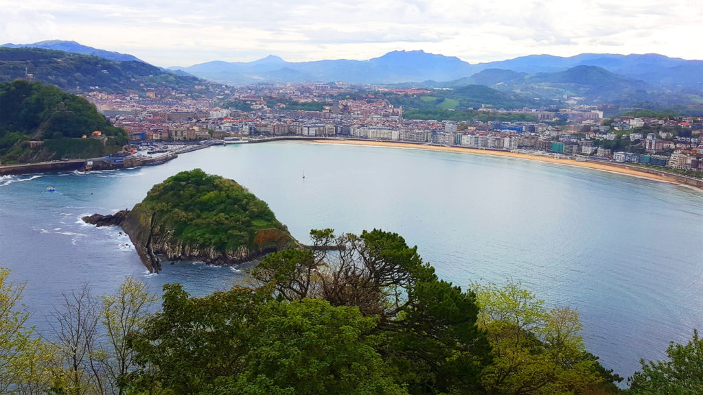 San Sebastian - a spectacular view from Monte Igueldo