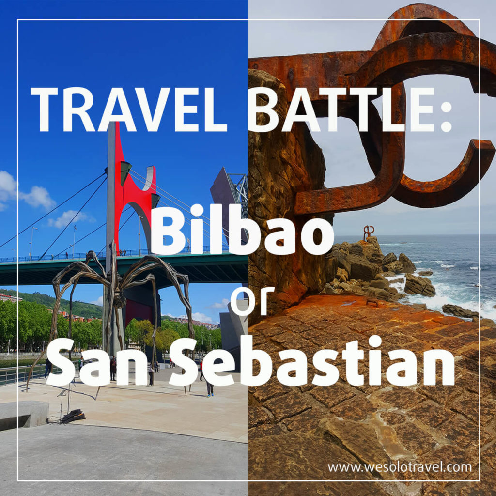Travel Battle: is better to travel to Bilbao or San Sebastian?
