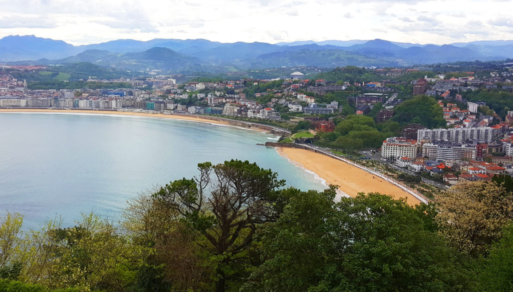 An amazing view to San Sebastian from Monte Igueldo