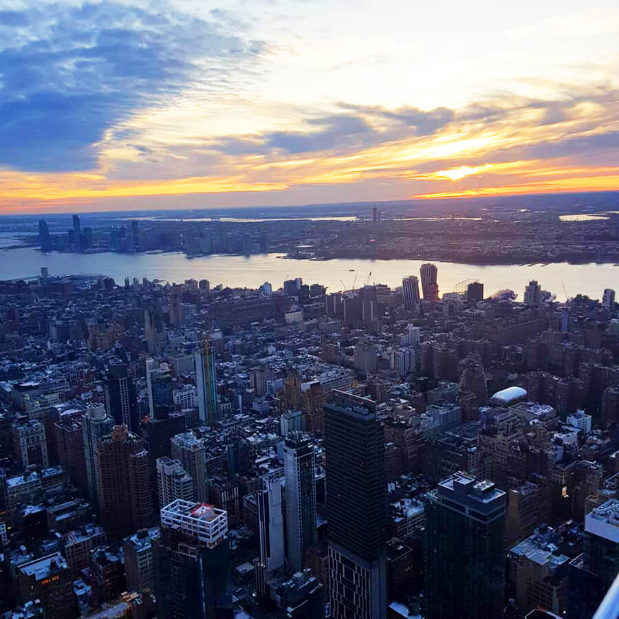 Sunset from Empire State Building New York