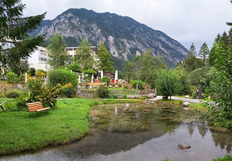 Mountain Pole Camp location - garden of hotel VilaVier