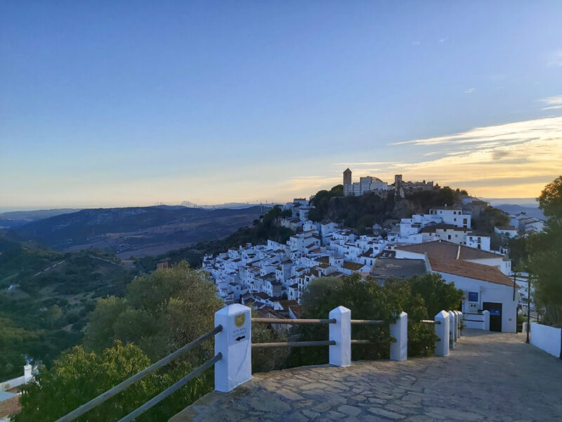 Casares sunset in Spain Andalusia