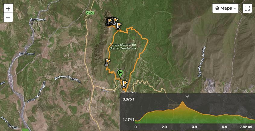 Trail in Sierra Crestellina, Casares