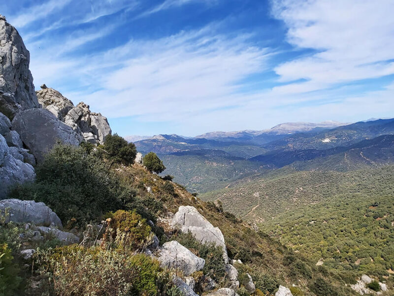 Rocks of Sierra Crestellina in Casares, Spain
