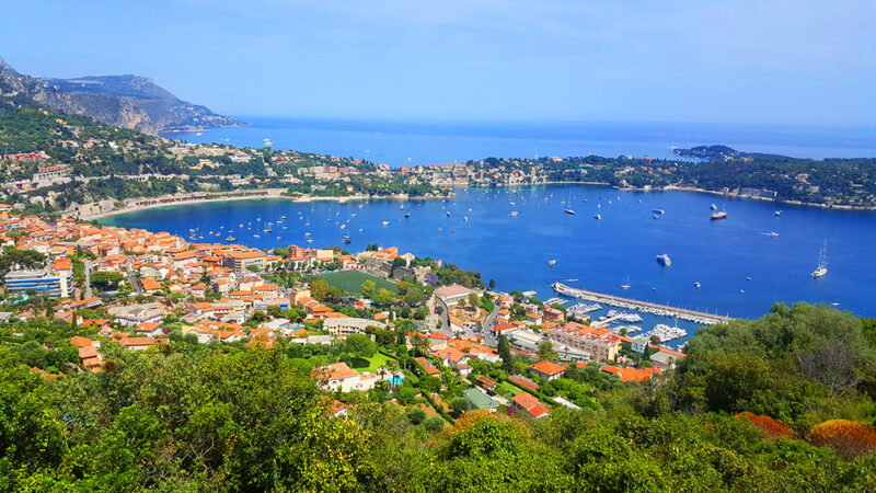 Amazing views to Jean Cap d'Ferrat from mont Boron in Nice