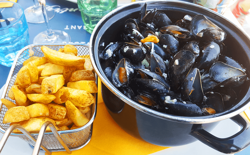 Moules Frites - French classic dish