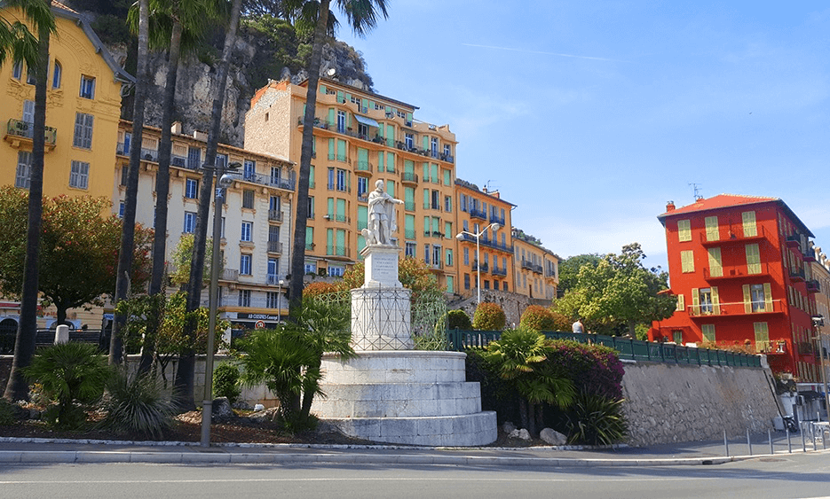 Statue of King Charles Felix in Nice, the port