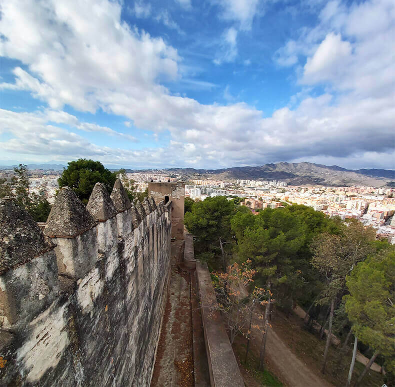 A view from Castillo Gibralfaro in Malaga