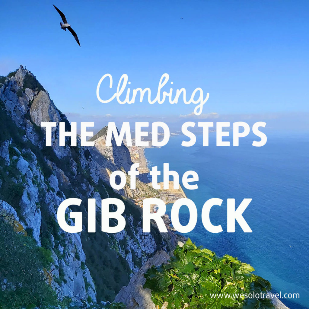 Climbing up the Med Steps of the Gib Rock