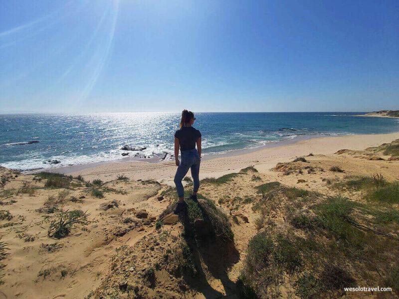 A beach between Punta Paloma and Bolonia, Tarifa, Andalusia,
