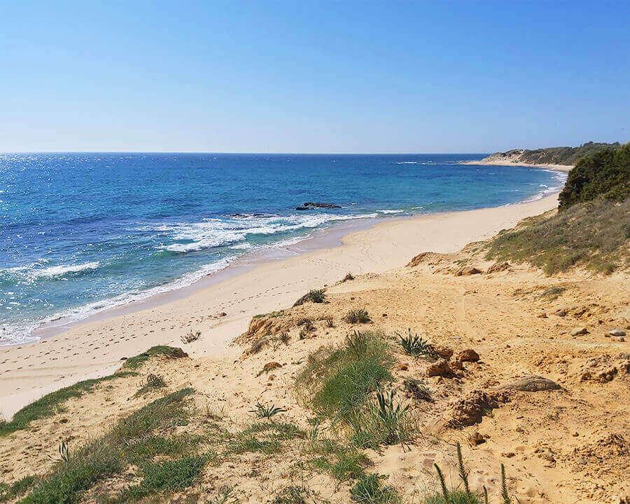 Secluded beach in Tarifa