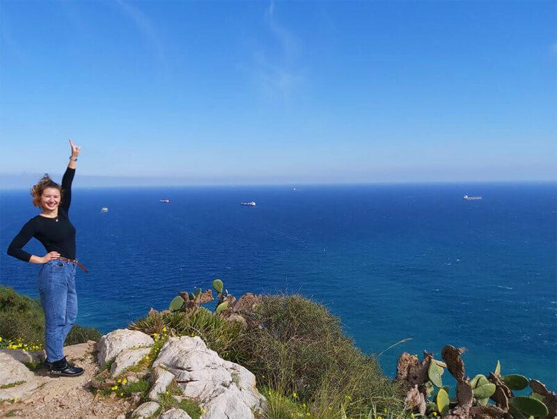 Amazing view from Mediterranean steps in Gibraltar