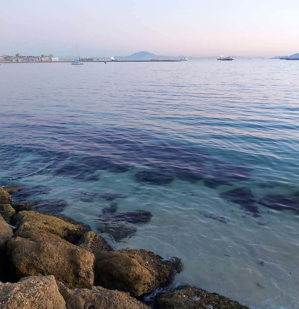 A view to Africa from La Linea beach