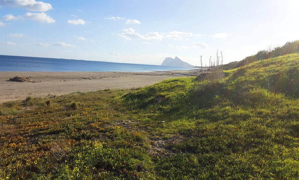 Alcaidesa beach - view to Gibraltar