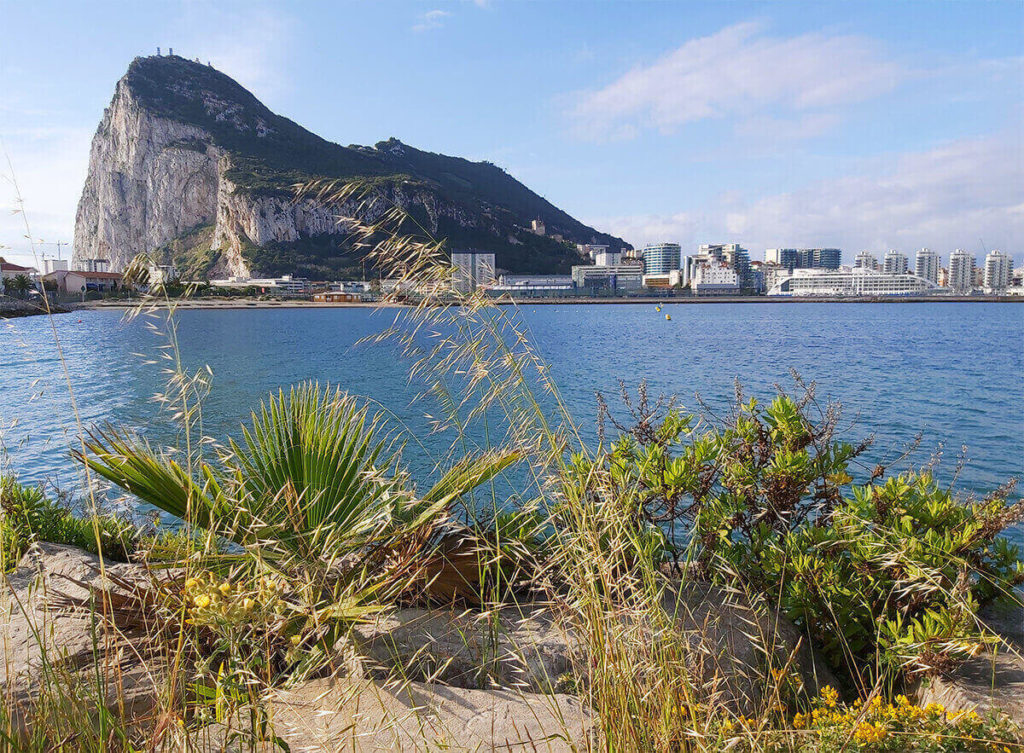 A lovely view to Gibraltar, taken from La Linea