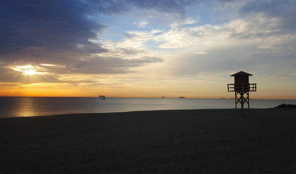 Sunrise in La Linea, Andalusia, Spain