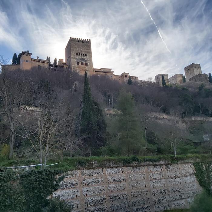 Alhambra - a view from Palacio de Santa Inés.