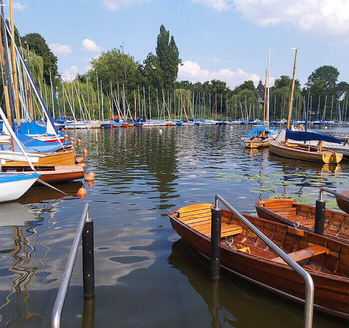 Little Marina in Alster Hamburg